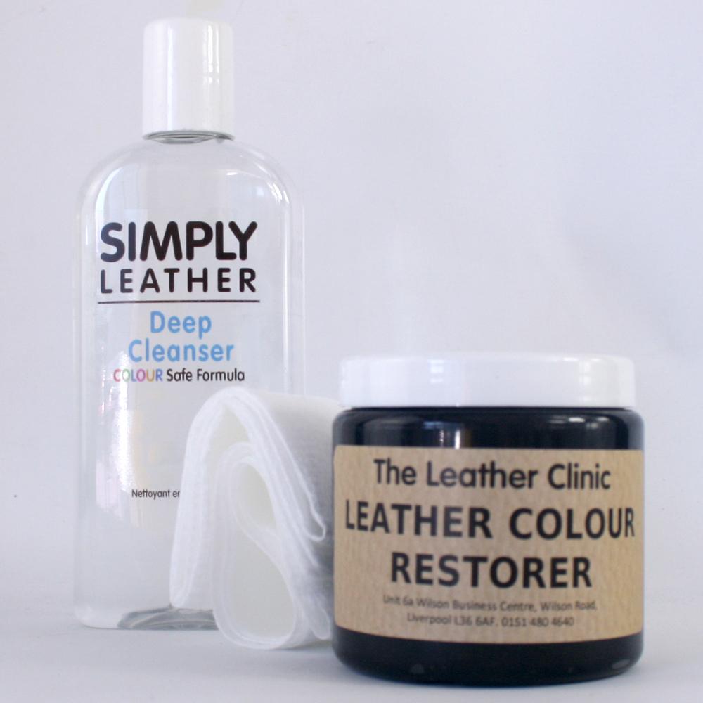 leather cleaner color restorer restoration kit for sofa car interior etc ebay. Black Bedroom Furniture Sets. Home Design Ideas